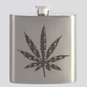 Skull Marijuana Leaf Flask