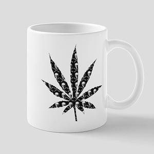 Skull Marijuana Leaf Mug