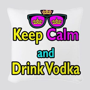 Crown Sunglasses Keep Calm And Drink Vodka Woven T