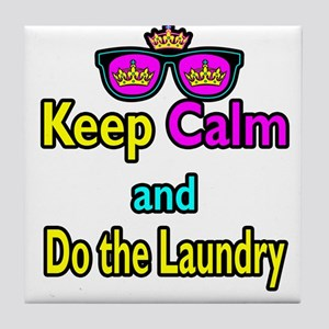 Crown Sunglasses Keep Calm And Do The Laundry Tile