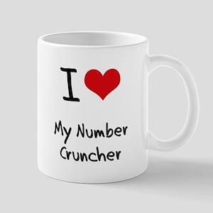 I Love My Number Cruncher Mug