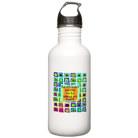 Retired Teacher PILLOW Funky Water Bottle