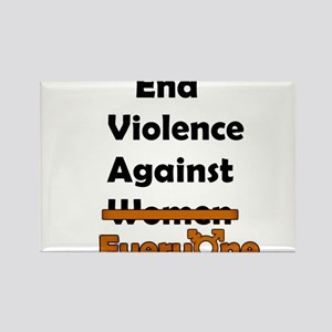 End Violence Against Everyone Rectangle Magnet
