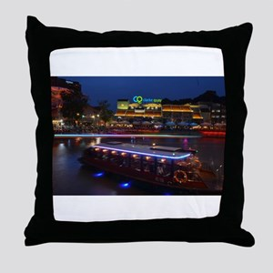 Night life , Clarke Quay- Singapore ! Throw Pillow