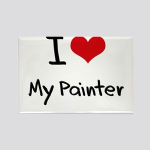 I Love My Painter Rectangle Magnet