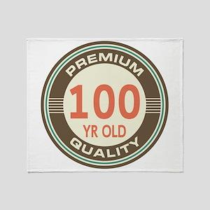 100th Birthday Vintage Throw Blanket