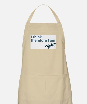 I think therefore I am... right Apron