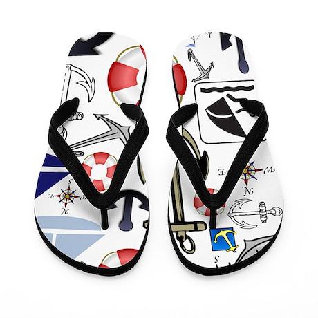 Nautical Fun Flip Flops