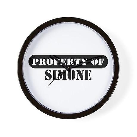 Property of Simone Wall Clock