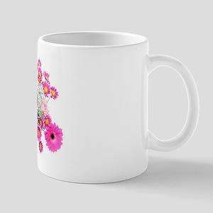 Beautiful Pink Floral Art Mug