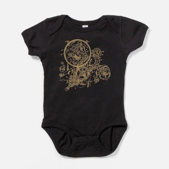 Clockwork Collage Baby Bodysuit