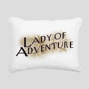 Lady Of Adventure Rectangular Canvas Pillow