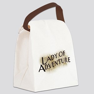 Lady Of Adventure Canvas Lunch Bag