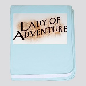 Lady Of Adventure baby blanket