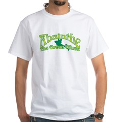 Absinthe The Green Muse White T-Shirt