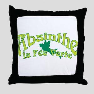 Absinthe La Fee Verte Throw Pillow