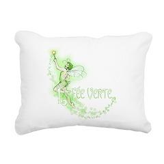 Absinthe Fairy Flying Rectangular Canvas Pillow