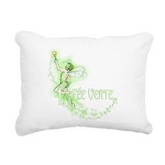 Absinthe Fairy Flying Rectangular Canvas Pillow