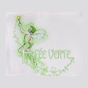 Absinthe Fairy Flying Throw Blanket