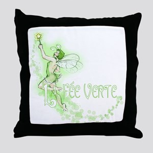 Absinthe Fairy Flying Throw Pillow