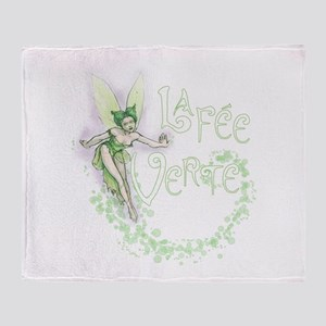 Absinthe Fairy Flitting Throw Blanket