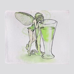 Absinthe Fairy Toying With Glass Throw Blanket