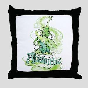 Absinthe Sugar Cube Fairy Throw Pillow