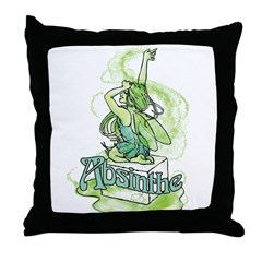 Absinthe Sugar Cube Fairy Throw Pillow