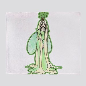 Green Fairy Princess Throw Blanket