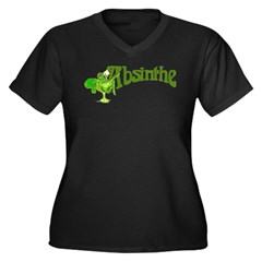 Fairy In Glass Absinthe Women's Plus Size V-Neck D