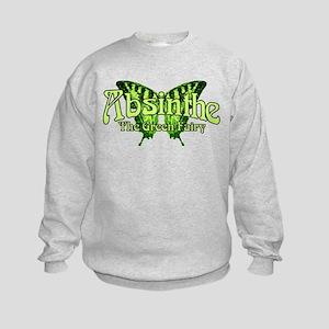 Absinthe The Green Fairy Wings Kids Sweatshirt