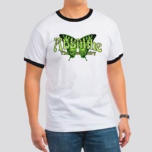 Absinthe The Green Fairy Wings Ringer T