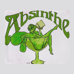 Absinthe Green Fairy In Glass Throw Blanket