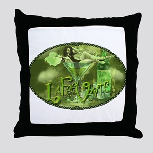 La Fee Verte In Glass Collage Throw Pillow