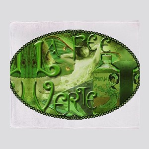 La Fee Verte Collage Throw Blanket