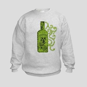 Absinthe Bottle With Swirls Kids Sweatshirt