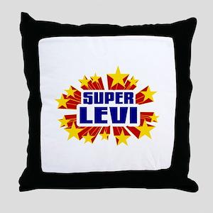 Levi the Super Hero Throw Pillow