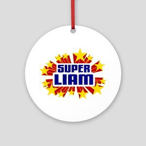 Liam the Super Hero Ornament (Round)