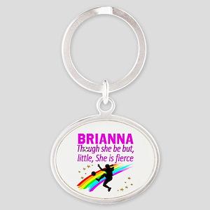 SOCCER GIRL Oval Keychain