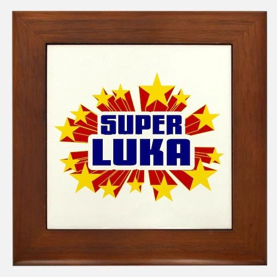 Luka the Super Hero Framed Tile