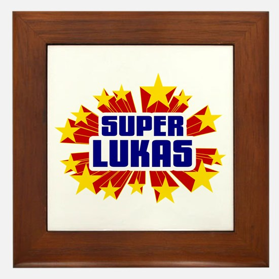 Lukas the Super Hero Framed Tile