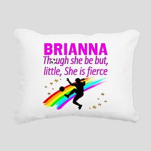 SOCCER GIRL Rectangular Canvas Pillow
