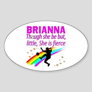 SOCCER GIRL Sticker (Oval)