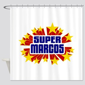 Marcos the Super Hero Shower Curtain