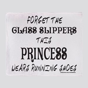 THIS PRINCESS WEARS RUNNING SHOES Throw Blanket