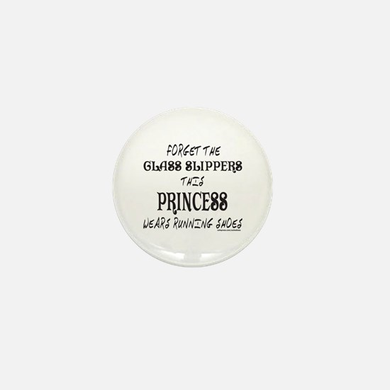 THIS PRINCESS WEARS RUNNING SHOES Mini Button