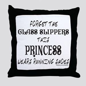 THIS PRINCESS WEARS RUNNING SHOES Throw Pillow