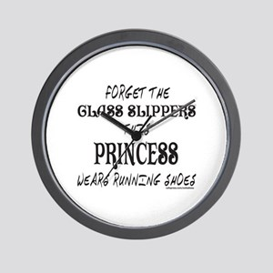 THIS PRINCESS WEARS RUNNING SHOES Wall Clock