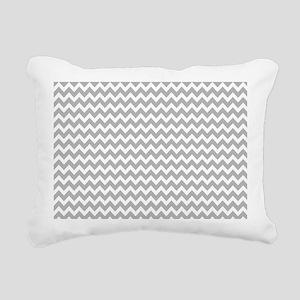 Light Gray Chevrons Zigzag Pattern Rectangular Can
