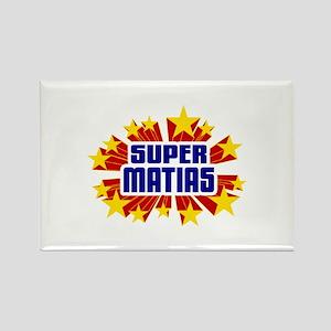 Matias the Super Hero Rectangle Magnet